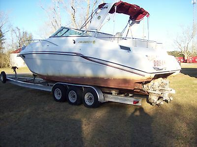 1995 Celebrity 310 Cruiser Twin V8 Boat with Water Damage Possible Bad Motors