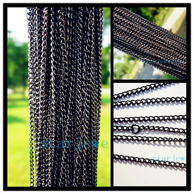 Lots 30Pcs Black color Cross chain necklace for jewelry making Design 48cm