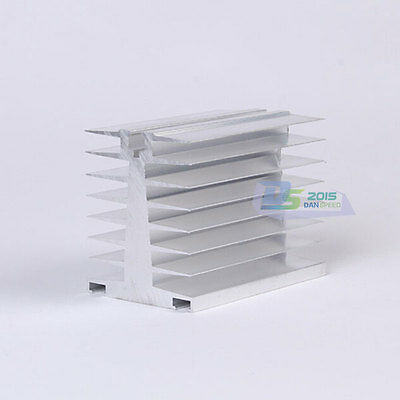 Single-phase Solid State Relay Radiator Aluminum Heat Sink 80mmx65mmx80mm Hot