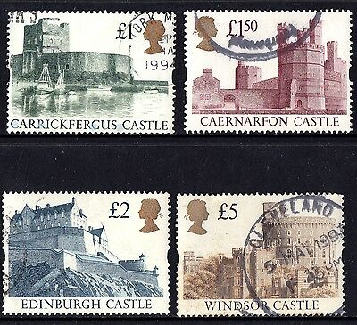 Great Britain 1992 British Castles Set of Stamps P Used