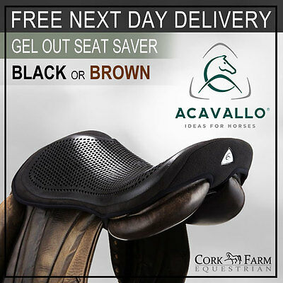 Acavallo GEL OUT Seat Saver BLACK/BROWN S/M/L Saddle Security Reduce Concussion