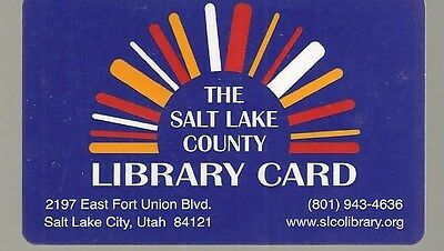 THE SALT LAKE COUNTY LIBRARY CARD