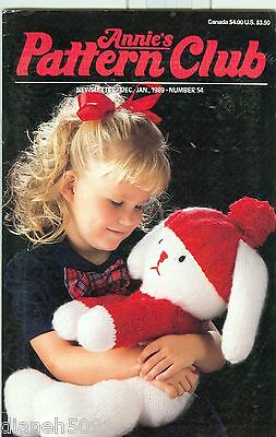 Annie's Pattern Club Back Issue Magazine December / January 1989 # 54