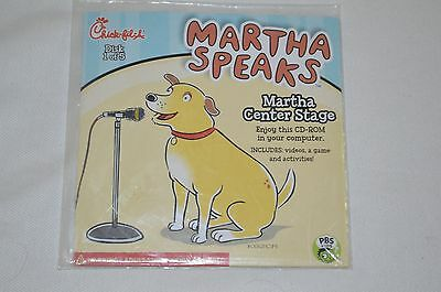 NEW 2012 Chick Fil A Kids Meal MARTHA SPEAKS #1 Martha Center Stage CD-ROM