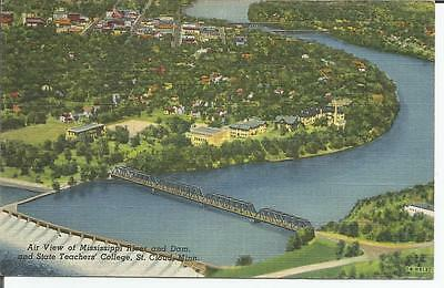 ag(C) St. Cloud, Minnesota: Air View Mississippi River and Dam