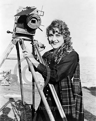 1916 Mary Pickford w/ Movie Camera Vintage Photo Hollywood Largest Sizes