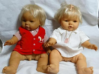 Berjusa Baby Dolls from the 1980's Anatomically Correct Tunene and Twin Brother