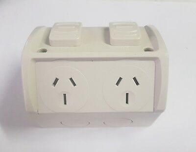 Weatherproof Double GPO Power Point Outlet 15 Amp  15A 240V