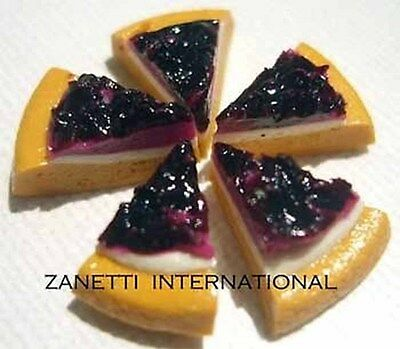 100 Dollhouse Miniature Berry Cheesecakes * Mini Food Cake Slices * Wholesale