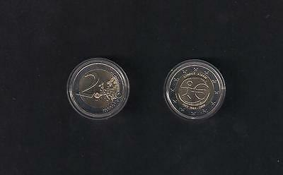 CYPRUS CHYPRE ZYPERN 10 anni 2 EURO 2009 UNC COIN EMU OF/AL CENTRAL BANK CAPSULE