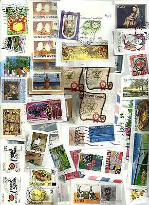 ALL WORLD KILOWARE 1 KILO GRAM ON PAPER NO GB MAINLY ALL LARGE SIZE STAMPS