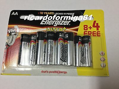 Energizer AA Ultra + Battery + Power Seal Technology (8 + 4 Pack) FREE SHIPPING