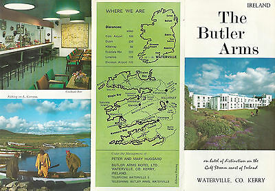 Butler Arms Hotel Waterville Kerry County Ireland  Vintage Travel Brochure