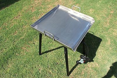 NEW CONCORD Stainless Steel 20 x 20 Flat Top Grill w/ Single Burner Stand Stove