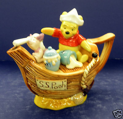 Cardew Winnie the Pooh Captain Pooh 2 Cup Teapot- New!  #100131- Limited Edition