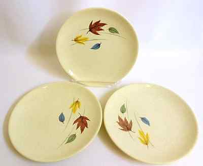 Franciscan Earthenware Autumn Leaves Pattern Bread Dish - Set of 3 - VGUC
