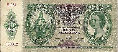 Hungary P113, 10 Pengo  girl / Equestrian statue of St. Stephen , 1936