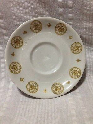 Shenango China Harvest Gold Compass Saucer 1974 Restaurant Ware Heavy Vintage