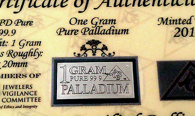 ACB Palladium & Platinum 99.9 Solid 1 GRAM Bullion PD & PT Bars with Certificate
