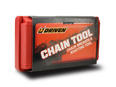 Driven Racing Motorcycle Chain Tool - Chain Breaker & Riveting Tool.