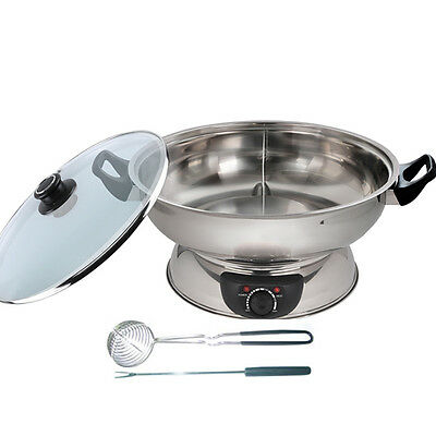 MASTARCOOK 2 Sided Electric Multi cooker Hot Pot 30cm 1600W 4.2 Litre