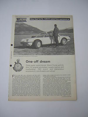 Leyland Rover BS Experimental Car Road Test from 1968 - Original Article