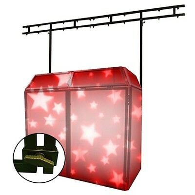 Gorilla DBS PRO Folding DJ Disco Stand Booth Screen with Overhead Lighting Bar