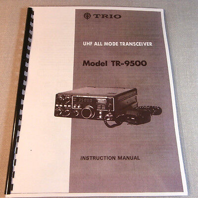 Kenwood TR-9500 Instruction Manual - Comb Bound with Protective Covers!