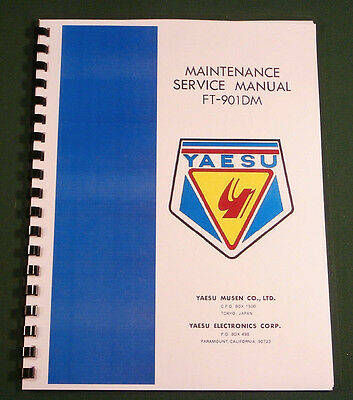 Yaesu FT-901DM Service Manual -  Premium Card Stock & Protective Covers!