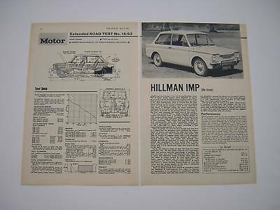 Hillman Imp de Luxe Road Test from 1963 - Original article
