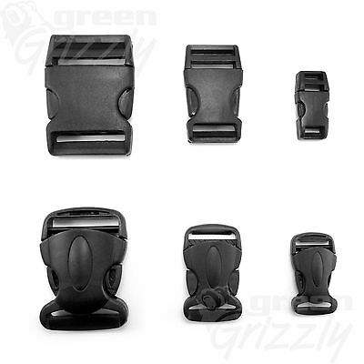 Side Release Plastic Buckles Clips For Webbing - 10mm 20mm 25mm 30mm 40mm 50mm