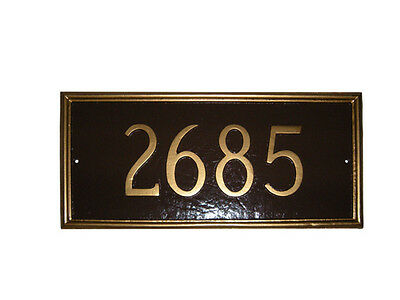 Montgomery Large Address Plaque Lawn Marker House Sign Numbers wall Custom Made