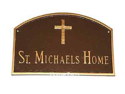 Address Plaque Custom Personalization Prestiage Arch House Rugged Cross Number