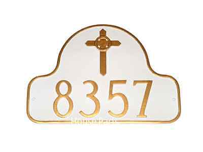 Address Plaque Custom Personalized Arch House Celtic Cross Number Sign