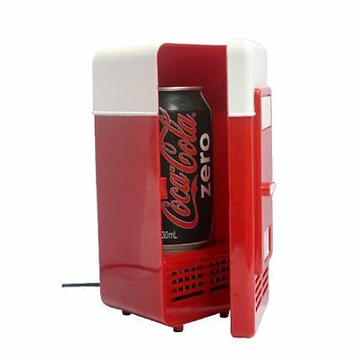 USB Red Mini Desk Fridge & Drink Warmer for Laptop PC Notebook