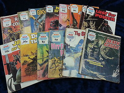 14 War Picture Library Comics ** A Fleetway Library ** £3.25 Uk P&p