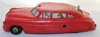 Louis Marx & Co. Vintage Battery & Wind Up Powered Plastic Body Police Car