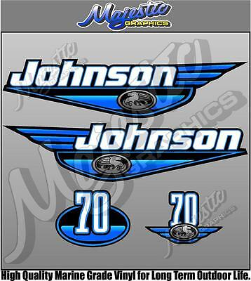 JOHNSON - 70hp - BLUE - OUTBOARD DECALS