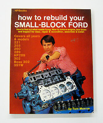 1980 How to rebuild your SMALL-BLOCK FORD-By Tom Monroe Informative Book