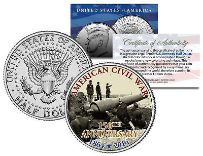 CIVIL WAR - 150th Anniversary * Fort Putnam * JFK Kennedy Half Dollar U.S. Coin