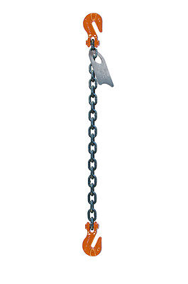 "Chain Sling - 5/8"" x 10' Single Leg with Grab Hooks - Grade 100"