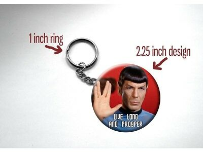"Spock Leonard Nimoy 'Live Long and Prosper' Hand 2 1/4"" Key Chain"