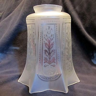 "Etch 2&1/4"" Glass Shade for old wall sconce,bridge lamp,antique ceiling fixture"