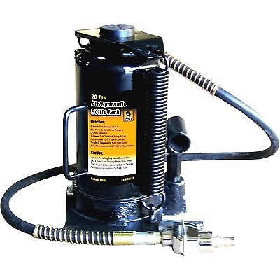 20 Ton Air/Hydraulic Bottle Jack Compressor for Pneumatic Repairs w/ Manual 40""