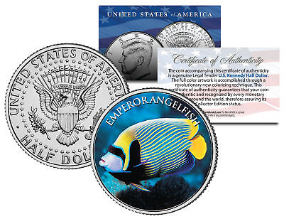 EMPEROR ANGELFISH *Fish Series* JFK Kennedy Half Dollar U.S. Colorized Coin
