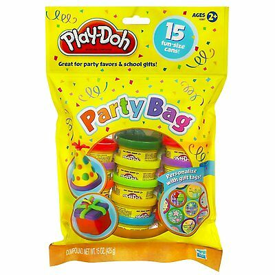 New Hasbro Play-Doh Party Bag - 15 Colour Cans 18367 Playdoh