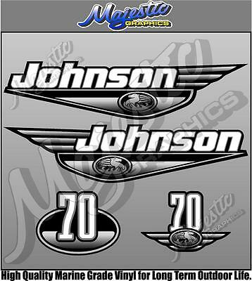 JOHNSON - 70hp - Late 90's early 2000's - OUTBOARD DECALS