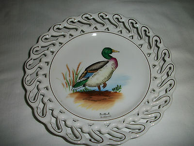 Rare Mallard Duck Reticulated Collector's Plate by Napco - S899 - Very Nice!