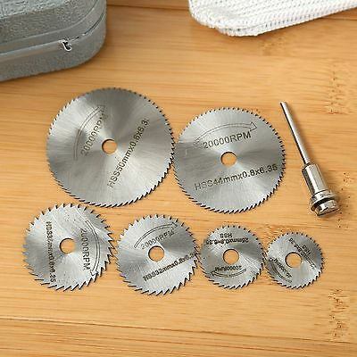 6PCS HSS Rotary Tool Circular Saw Blades Cutting Discs Mandrel Grinder Cut off