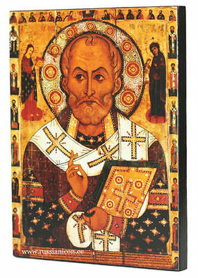 RUSSIAN ORTHODOX ICON – ST. NICHOLAS WITH SELECTED SAINTS (on the borders).1294